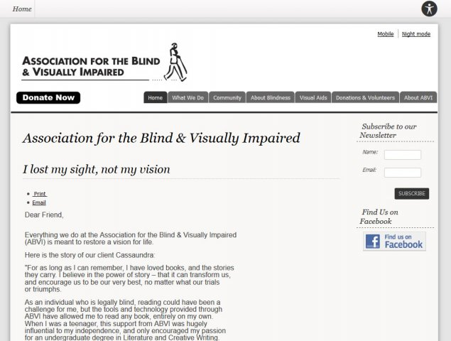 Association for the Blind